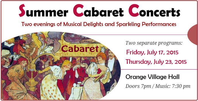Summer Cabaret Concerts